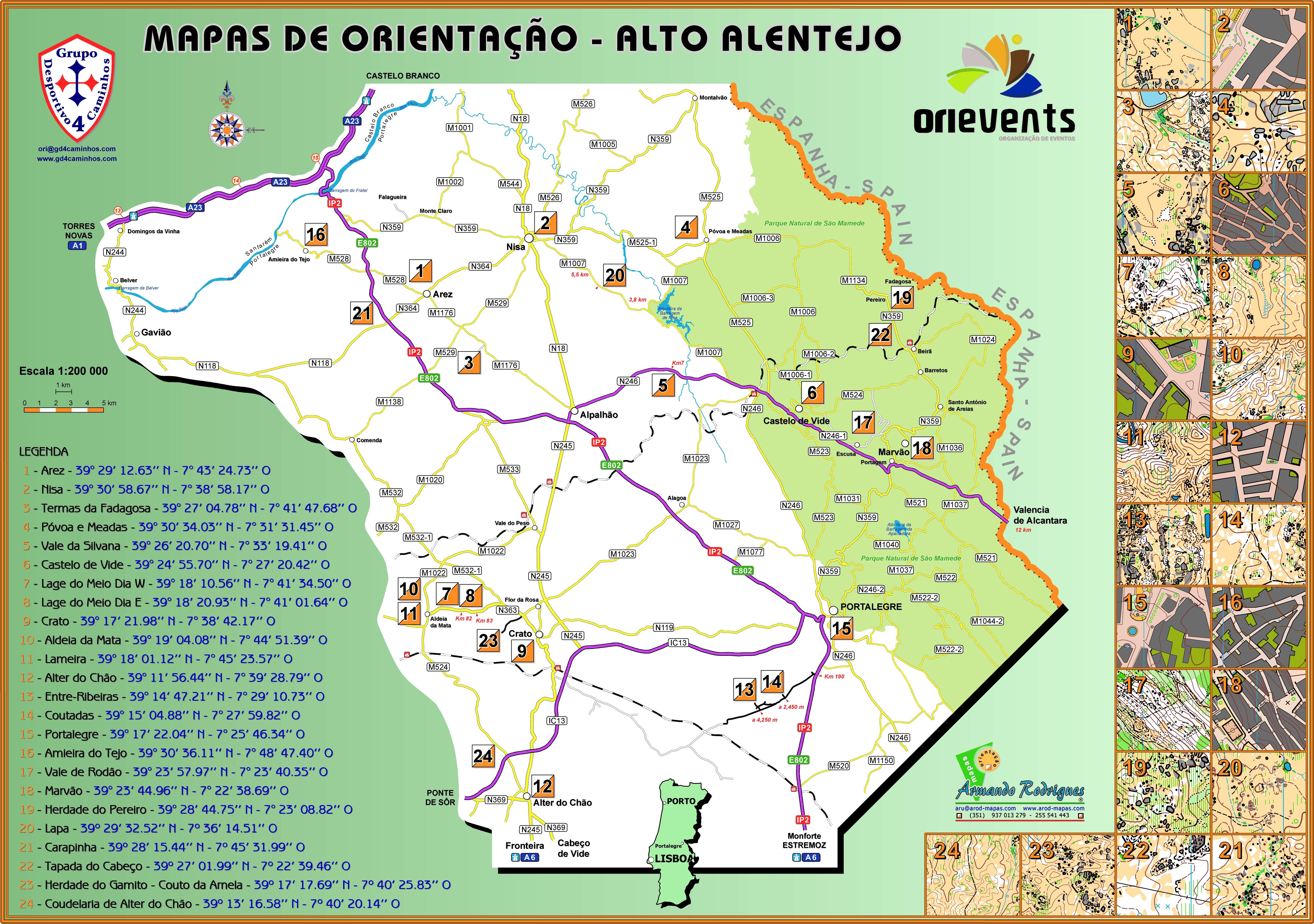 mapa de alto alentejo Mapa Localização Geral mapa de alto alentejo